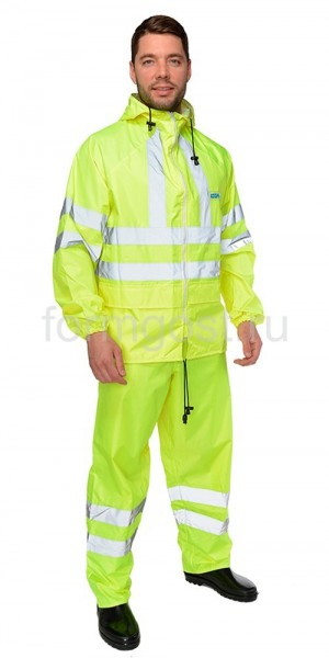 """Куртка """"Extra Vision WPL"""" (ПВХ), желт. фл."""