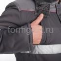 """Костюм """"Профи Люкс"""" утепл. с п/к, сер. + св. сер. заказать в ФОРМГОСТ"""
