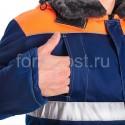 """Костюм """"Профи Люкс"""" утепл. с п/к, син. + оранж. заказать в ФОРМГОСТ"""