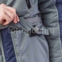 """Куртка """"Ангара"""" утепл., сер. + син. купить с доставкой"""