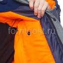 "Куртка ""Ангара"" утепленная, серый + синий"