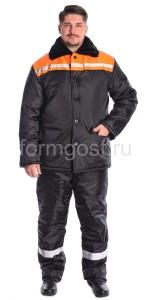 "Куртка ""Зима 2"" утепл., черн. + оранж."