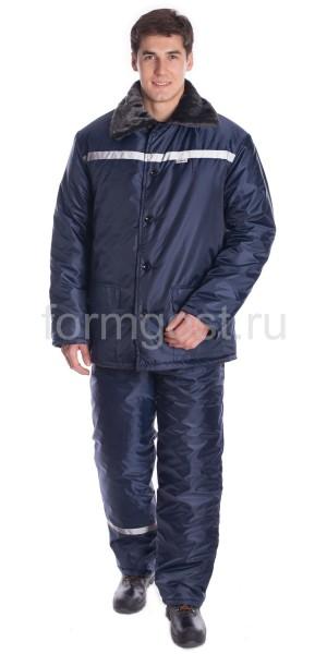 """Куртка """"Зима"""" утепл., син."""