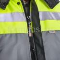 """Спецодежда - Куртка """"Меридиан"""" утепл., сер. + черн. + желт. фл."""