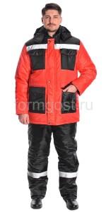 """Куртка """"Профи Плюс"""" утепл., красн. + черн."""