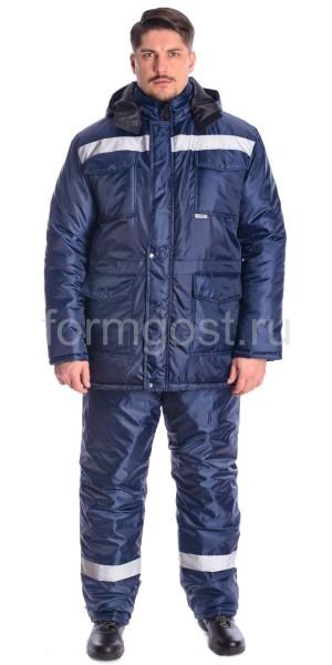 """Куртка """"Профи Плюс"""" утепл., син. + син."""