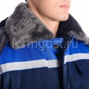 """Спецодежда - Куртка """"Труд М"""" утепл., син. + вас."""