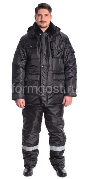 "Куртка охранника ""Кедр"" утепл., черн."