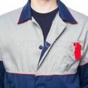 """Спецодежда - Куртка """"Мегаполис"""" удлиненная, сер. + син."""