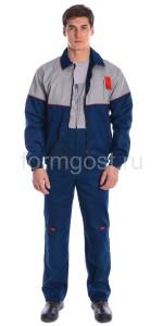 """Куртка """"Мегаполис"""" укороченная, сер. + син."""