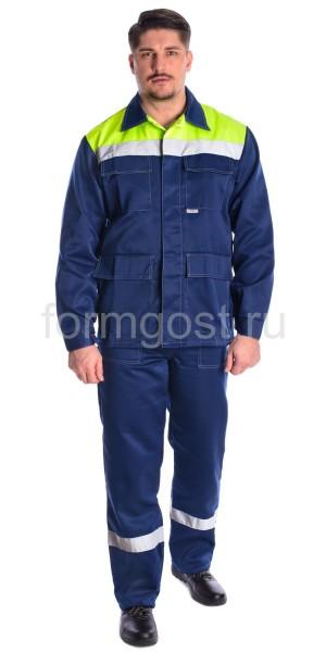"""Куртка """"Эксперт Люкс"""" син. + желт. фл."""