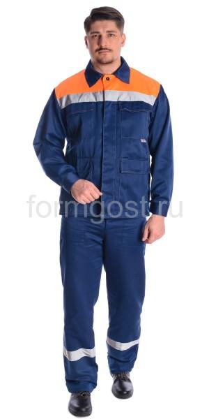 """Куртка """"Эксперт Люкс"""" син. + оранж. фл."""