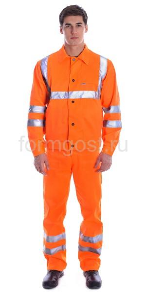 "Костюм ""Дорожник 1"" с брюками, оранж. фл."