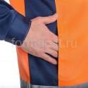 """Костюм """"Дорожник Люкс"""" с п/к, оранж. фл. + син. купить оптом"""