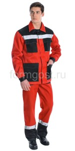 "Куртка ""Эксперт Люкс"", красн. + черн."