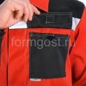 """Куртка """"Эксперт Люкс"""", красн. + черн. от производителя"""