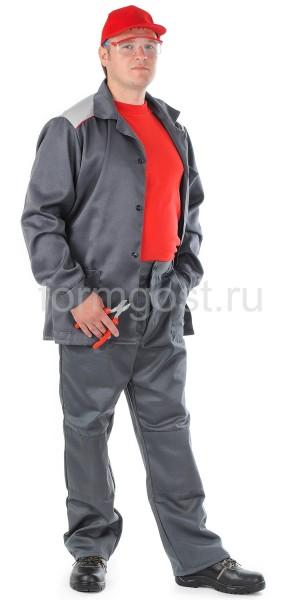 """Костюм """"Универсал"""" с брюк., т. сер + св. сер."""