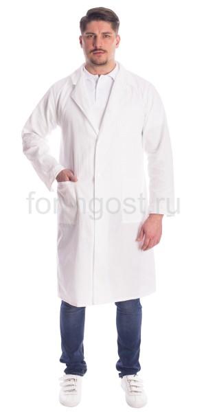 Халат мужской (тк. бязь), бел.