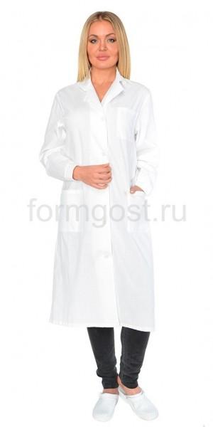 Халат женский (тк. бязь), бел.