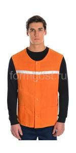 Жилет (тк. бязь), оранжевый