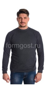 Толстовка футер с начесом, т. серый