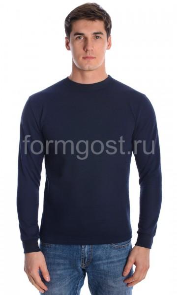 Толстовка футер с начесом, т. синий