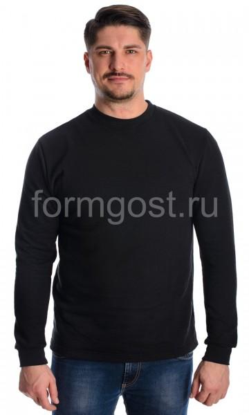 Толстовка футер с начесом, черный