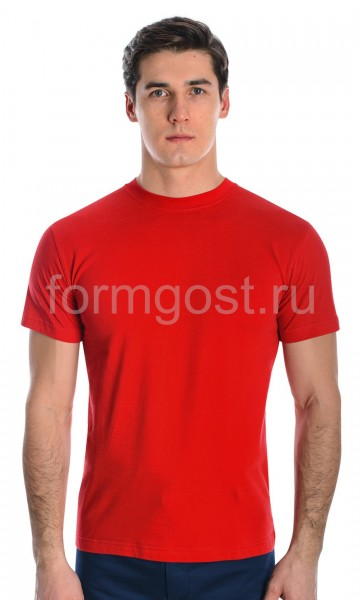 Футболка х/б, красный