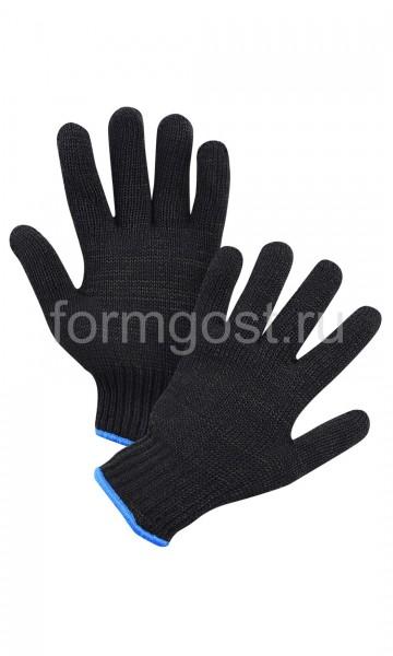 Перчатки полушерст. двойные черн. (уп. 10)