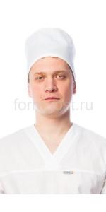 Колпак пекаря/повара (тк. бязь), бел.