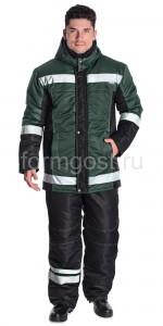 "Куртка ""Меридиан"" утепл., зел. + черн."