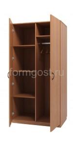 Шкаф 2-створчат. комбиниров., 755х376х2000 мм