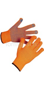 Перчатки акриловые с ПВХ точкой утеплённые