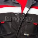 """Спецодежда - Куртка """"Флагман"""", черн. + т.сер."""