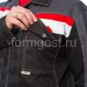 "Куртка ""Флагман"", черн. + т.сер. от производителя"
