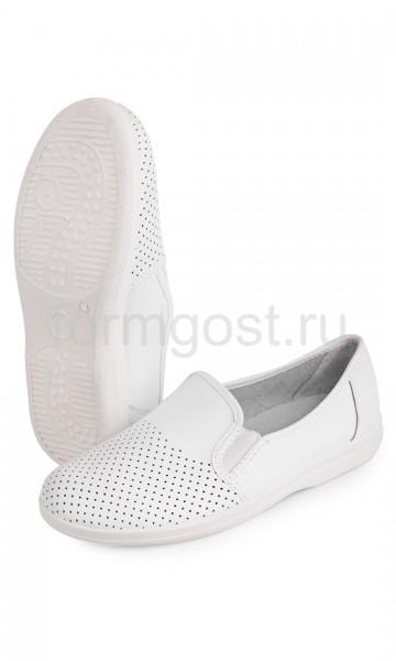 Туфли кожаные муж., бел.