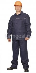 """Костюм """"Труд"""" с брюками (тк. саржа), синий"""