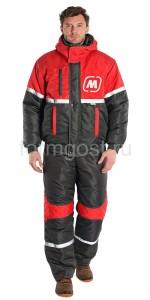 "Куртка ""Вираж Люкс"" утепл., т. сер. + красн. ""Магнит"""