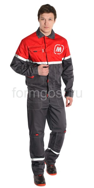 "Куртка ""Мегаполис Люкс"", т. сер. + красн. ""Магнит"""