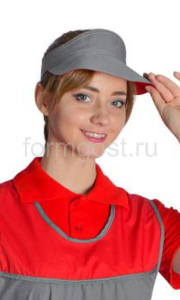 """Козырек """"Чистюля"""" сер.+красн."""