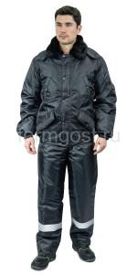 "Куртка ""Вираж"" утепл., черн."