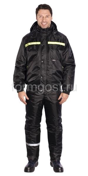 """Куртка """"Вираж"""" утепленная, черная"""