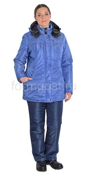"""Куртка """"Меридиан"""" утепл. женский, син. + вас."""