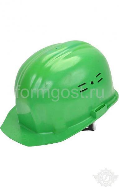 """Каска """"Люкс"""" строит. с храповым механизмом зелен."""