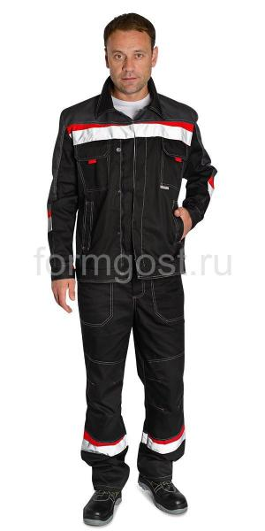 "Куртка ""Флагман"", черн. + т.сер."