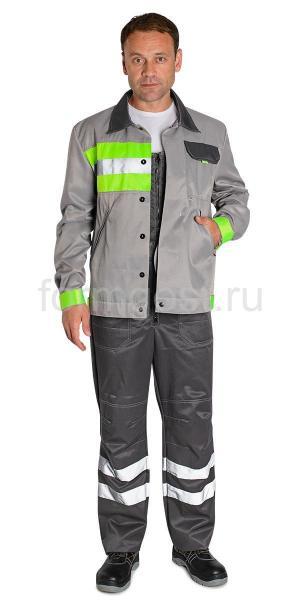 "Куртка ""Имидж"" св. сер.+ желт. фл."