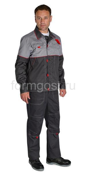 "Куртка ""Мегаполис Люкс"" т. сер. + сер."