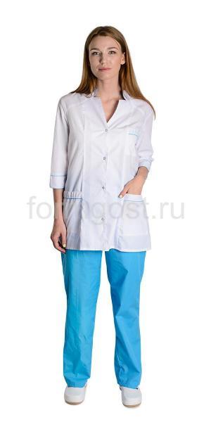 "Костюм ""Соната"" женский, бел. + голуб."