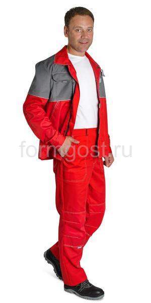 "Куртка ""Мегаполис Люкс"", красн. + сер."