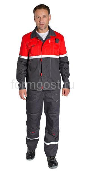 "Куртка ""Мегаполис Люкс"", т. сер. + красн."